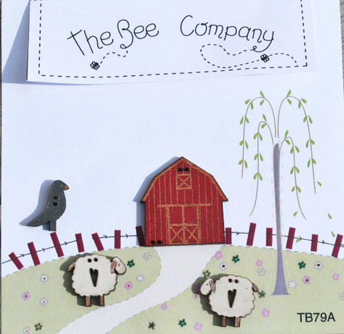 The Bee Company Boutons Etable Et Moutons - TB79A