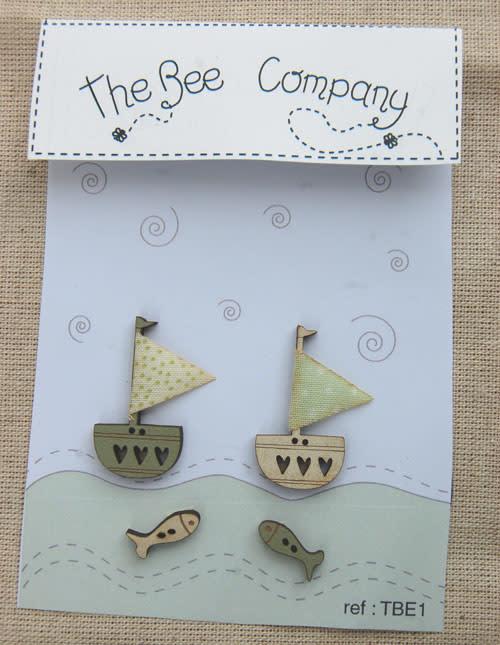 The Bee Company Bateaux Beige et Vert - TBE1