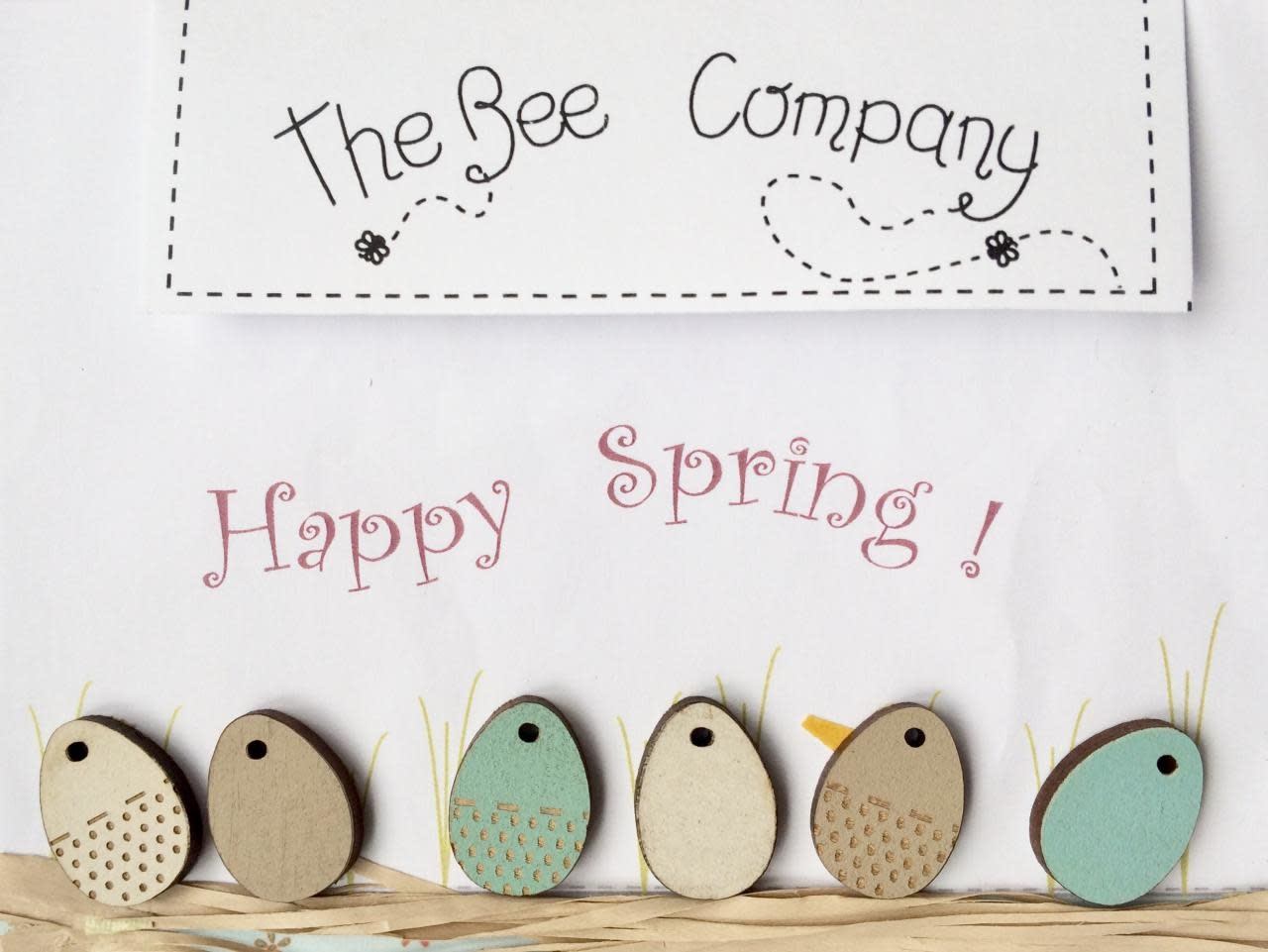 """The Bee Company Boutons Oeufs """"Happy Spring"""" - TB7C"""