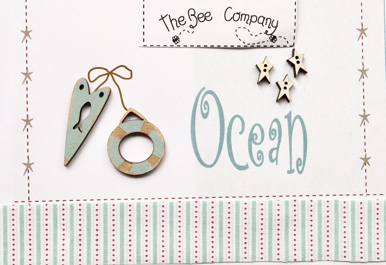 "The Bee Company Boutons ""Océan"" bleu - TBE12B"