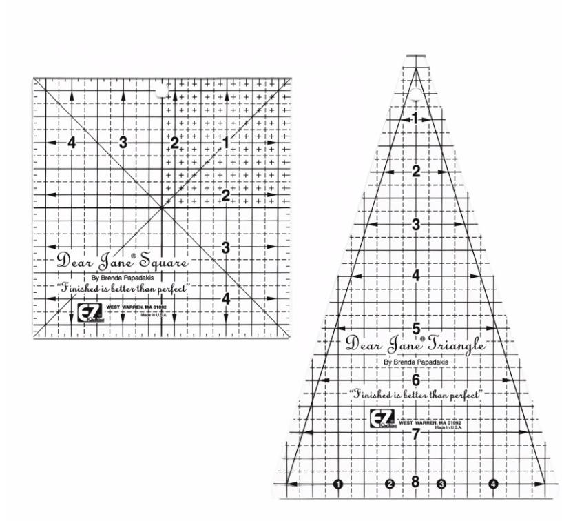 Diversen Dear Jane Template Ruler Set (2 pcs) -  EZ Quilting