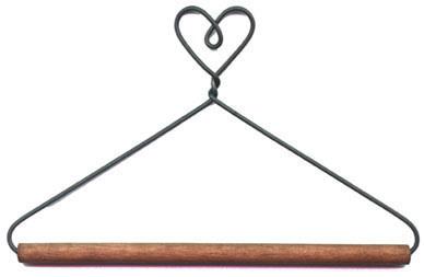 """Diversen Hanger Dowel 19cm (7.5"""") with one Heart"""