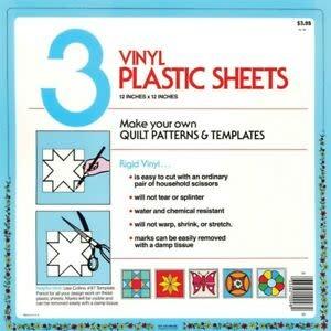 Diversen Collins 3 Vinyl Plastic Sheets - 12x12 inch