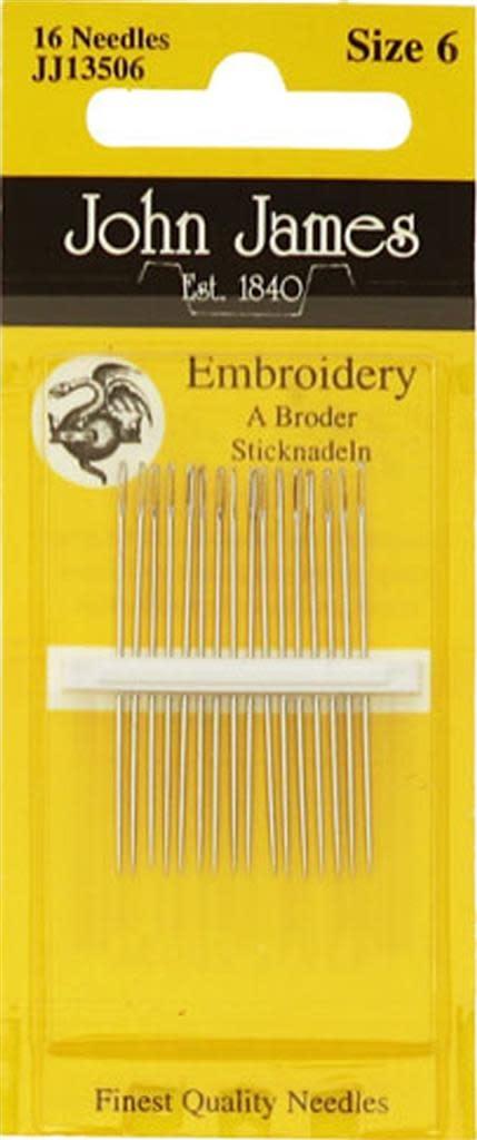 John James EMBROIDERY NEEDLES N°6 - JJ13506