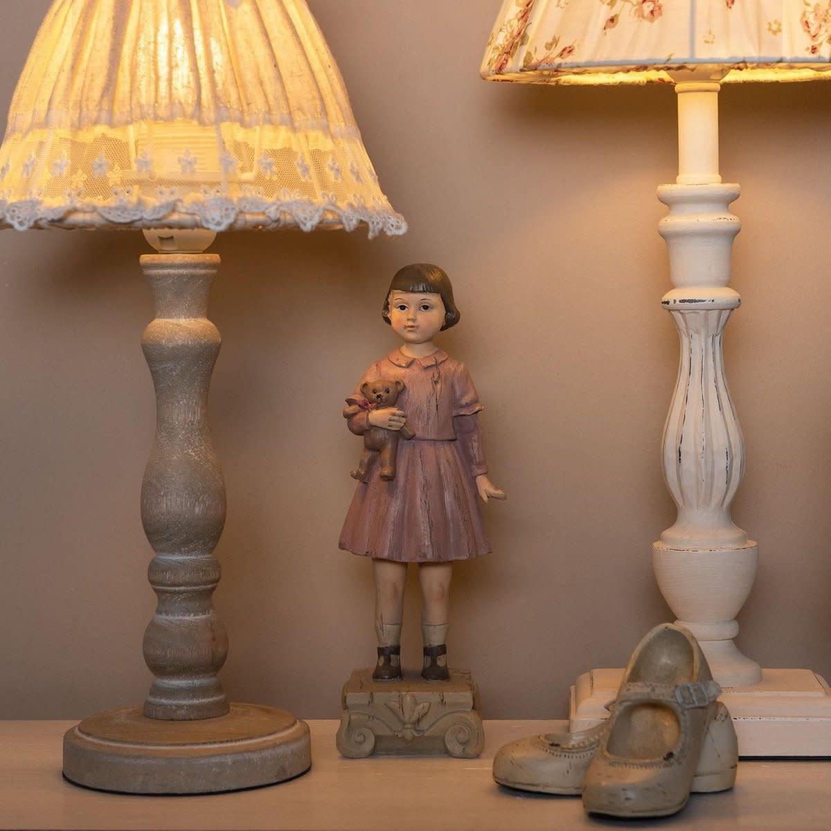 clayre&eef Decoratie beeld meisje  9*7*24 cm