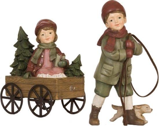 clayre&eef Decoratie figuur kinderen | 20*7*16 cm