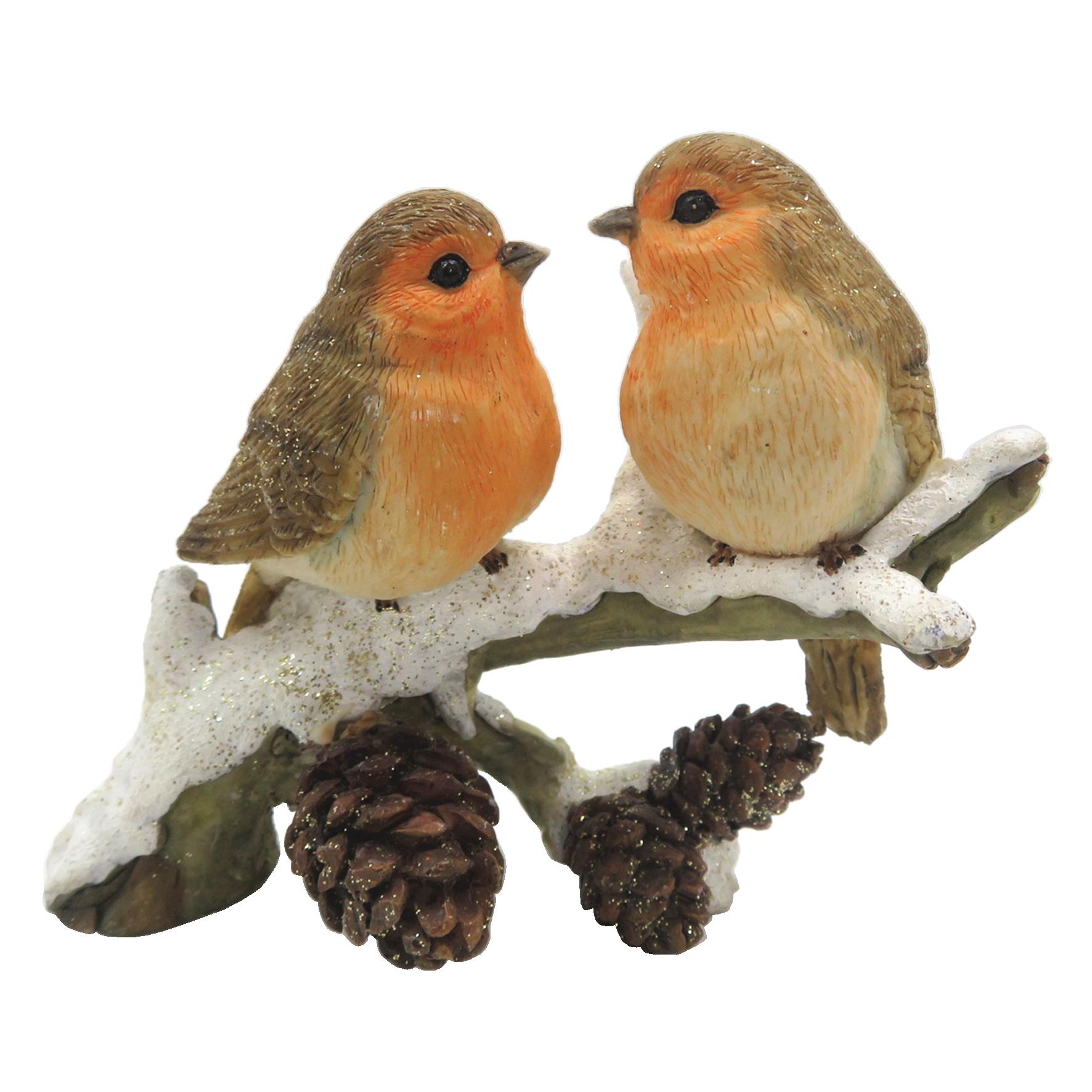 clayre&eef Decoratie vogels  11*6*10 cm