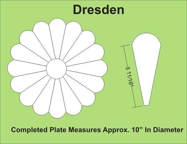 "Paper Pieces 10"" 16 Petal Dresden"