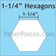 "Paper Pieces 1 1/4"" Hexagon - 75 Pieces"