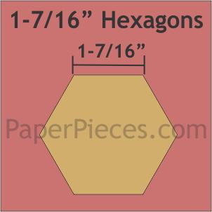 "Paper Pieces 1 7/16"" Hexagon - 600 Pieces"