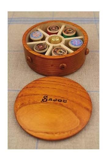 Sajou ROUND WOODEN BOX FOR MINIATURE COILS