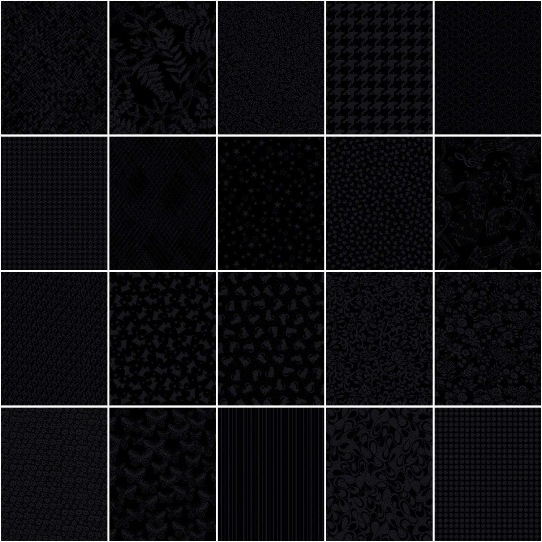 Benartex Black 5x5 Pack - Benartex