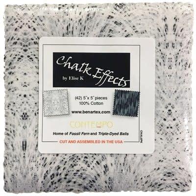 Benartex Chalk Effects 5x5 Pack - Benartex