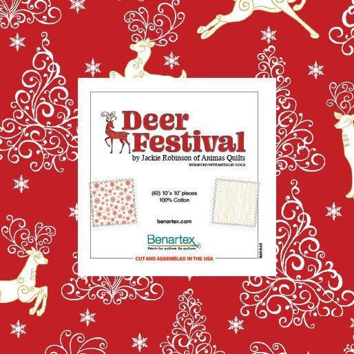 """Benartex Deer Festival 10""""x10"""" Pack"""