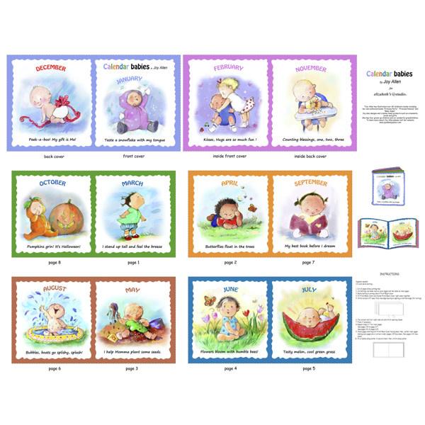 Eliesabeth's Studio CALENDAR BABIES BOOK SOFTBOOK