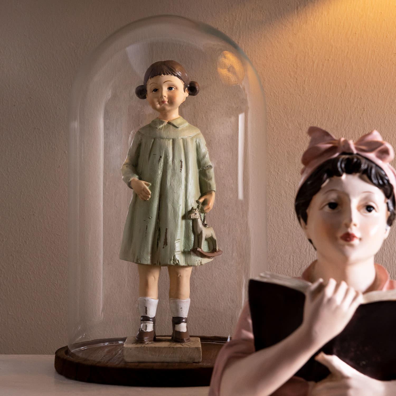 clayre&eef Decoratie beeld meisje