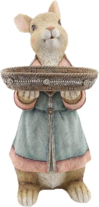 clayre&eef Decoratie Beeld Konijn 23cm