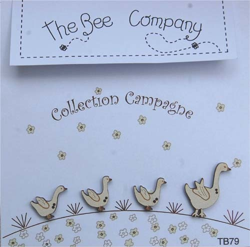 The Bee Company Countryside collection - buttons - 4 Geese