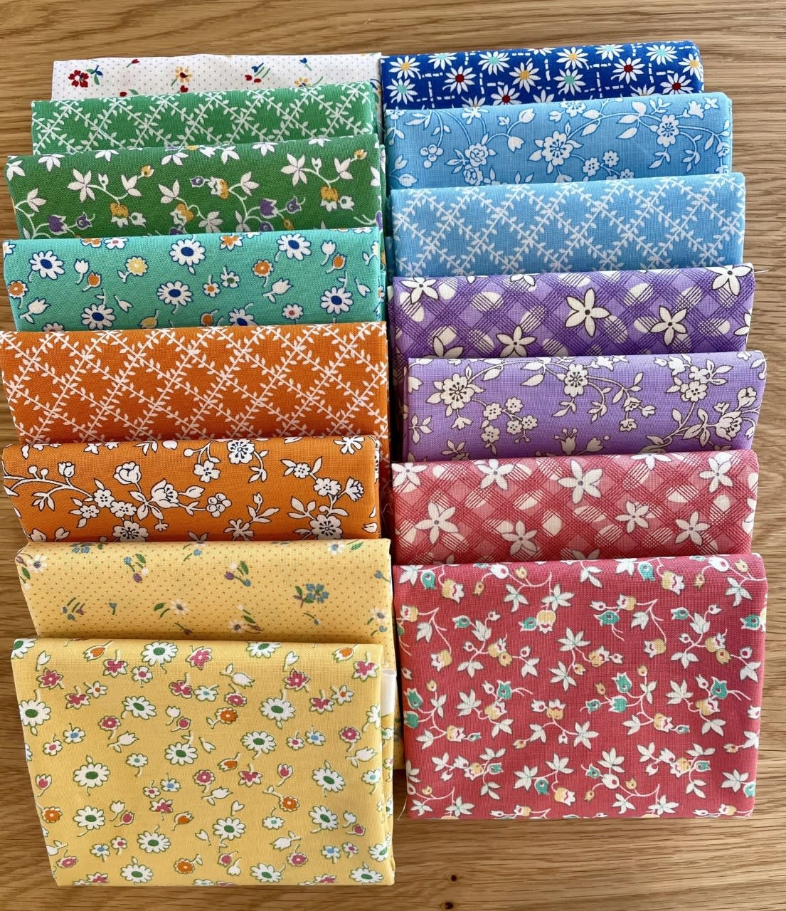 marcus fabrics Aunt Grace Bundel - 15 Fat Eights