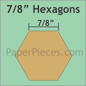 "Paper Pieces 7/8"" Hexagon ( x100)"