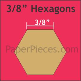 "Paper Pieces 3/8"" Hexagon, 200 Pieces3/8"" Hexagon, 200 Pieces"