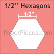 """Paper Pieces 1/2"""" Hexagon Large,750 Pieces"""