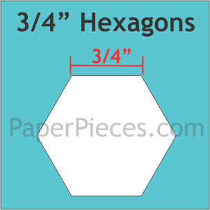"""Paper Pieces 3/4"""" Hexagon Large, 750 Pieces"""