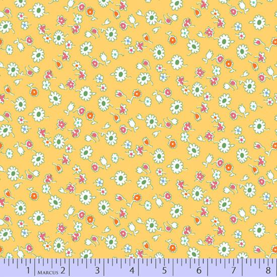 marcus fabrics Aunt Grace's Apron - Dits Yellow