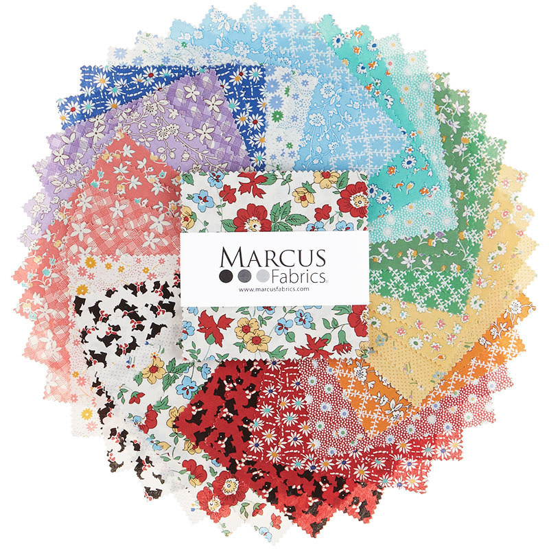 marcus fabrics AUNT GRACE BLUE RIBBON - COMPLEET PAKKET