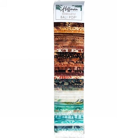 Hoffman Fabrics Bali Pop - Sandcaste - 2,5inch strips (Jelly Roll)