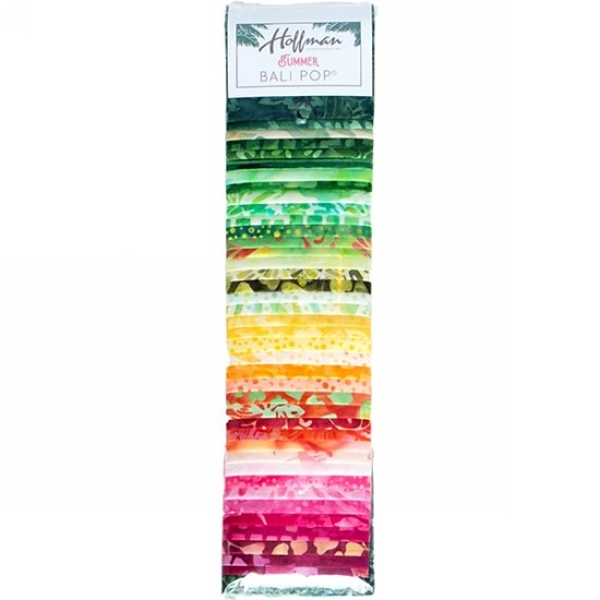 Hoffman Fabrics Bali Pop - Summer - 2,5inch strips (Jelly Roll)