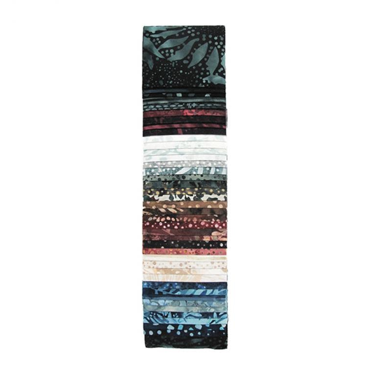 Hoffman Fabrics Bali Pop - Denim - 2,5inch Strips (Jelly Roll)