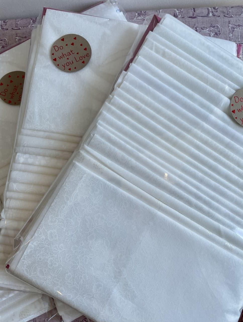 Huisgemaakt 20 Fat Eight Bundel - Wit op Wit