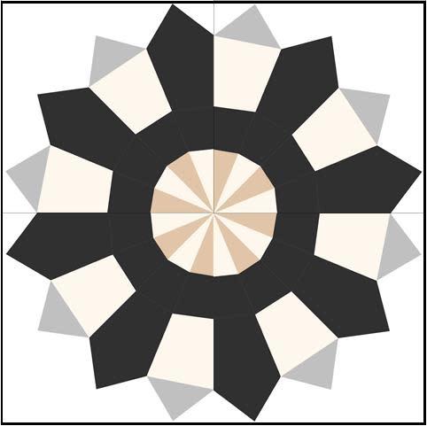 Bloc_Loc Bloomin Cogwheel Ruler Set (2P),  Ruler Set and Book (22,5 degrees)