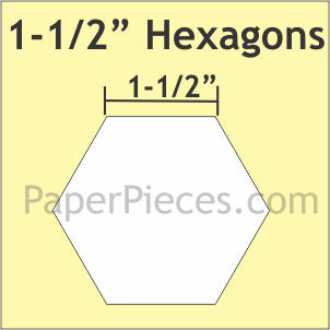 """Paper Pieces 1-1/2"""" Hexagons: Large Pack 300 Pieces"""