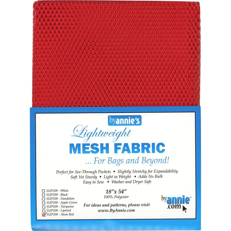 byAnnie Lightweight mesh fabric - ATOM RED -  125 cm x 45 cm