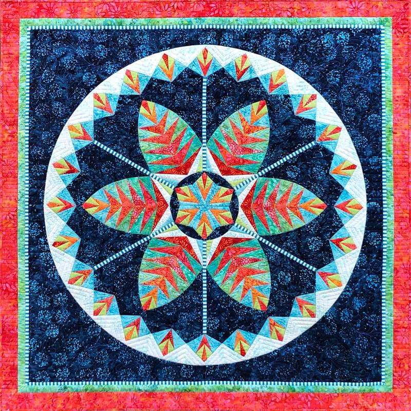 qbfabrics Botanica - Foundation paper piecing pattern