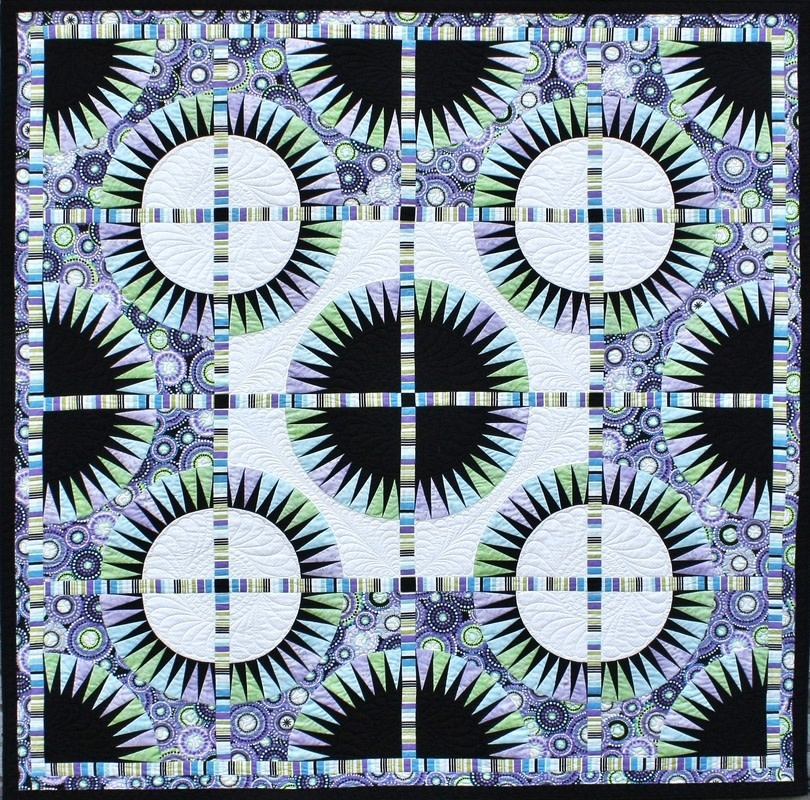 qbfabrics Black Beauty - foundation paper piecing pattern