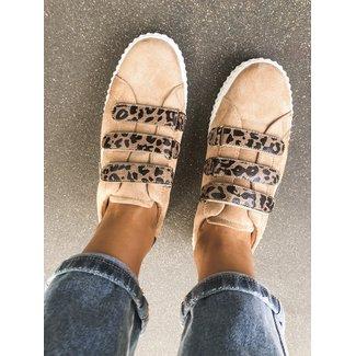 Sneaker beige leo