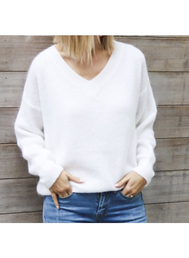 Emma knit white