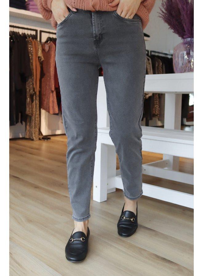 Mom jeans dark grey not distressed