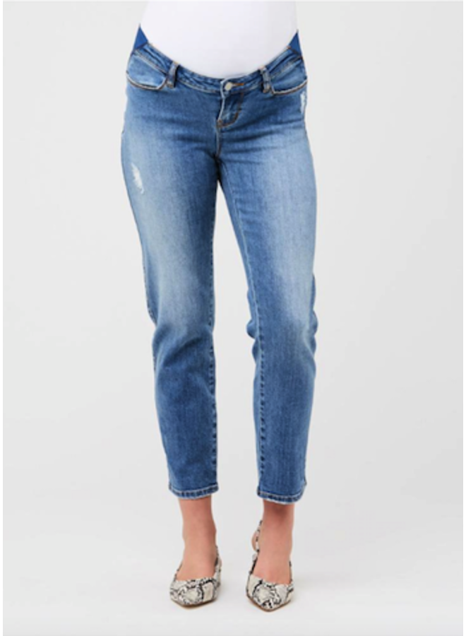 Dylan distressed mom jeans