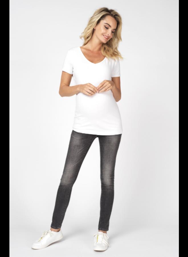 t-shirt  V neck - beschikbaar in wit en zwart
