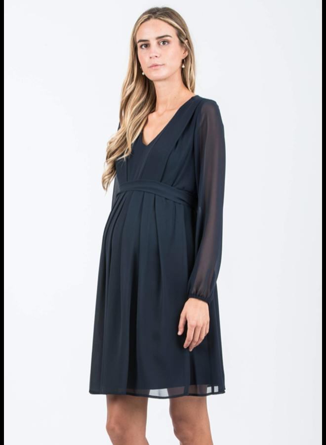 abito knee length dress dark blue