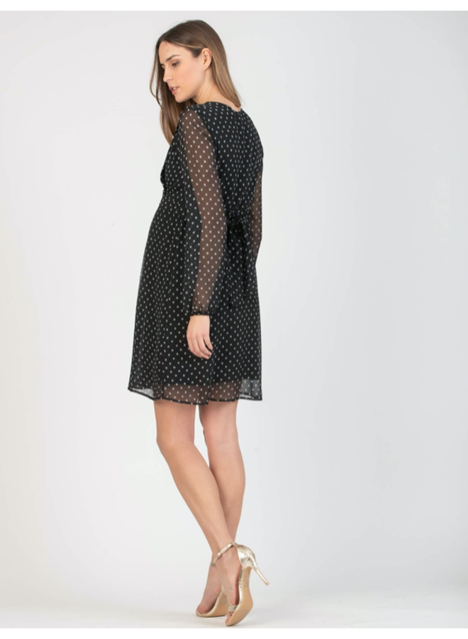 abito knee length dress - dotted