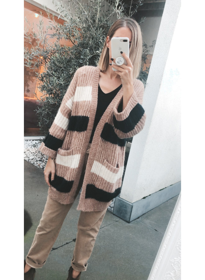 Yassunday stripe cardigan