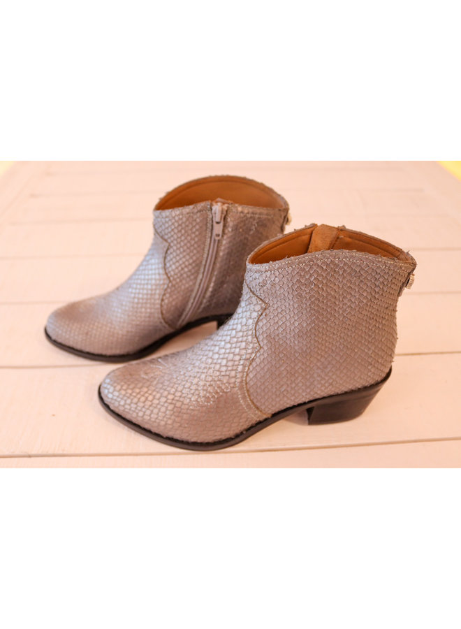 Boots snake silver Maison Auguste