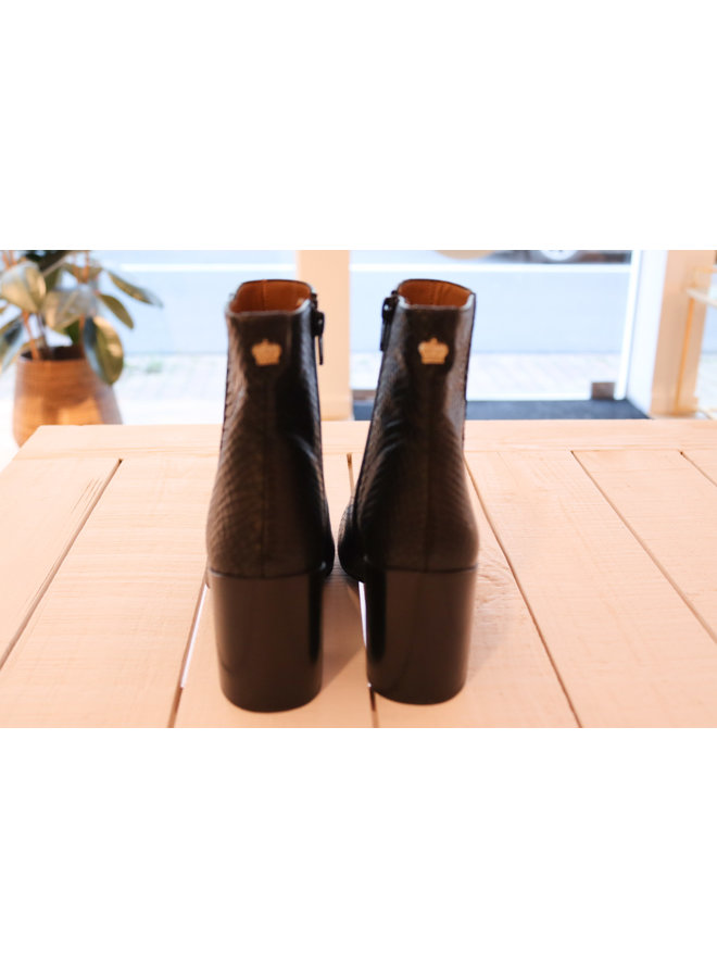 Boots black snake Maison Auguste