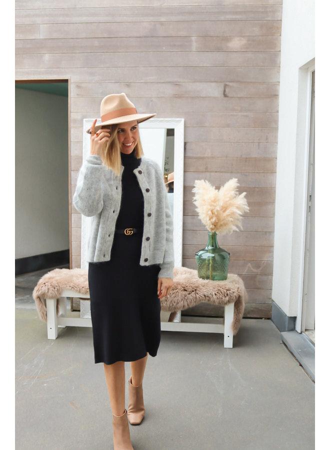 Knitted dress babbet black