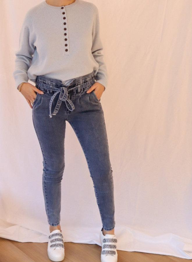 Jeans paperbag light blue